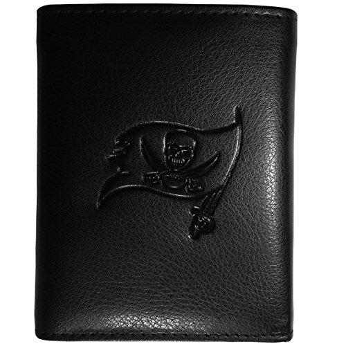 NFL Tampa Bay Buccaneers Embossed Tri-Fold Wallet, Black