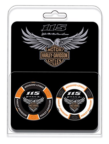 Harley-Davidson 115th Anniversary Collector 2pc Poker Chips Limited Edition 678D by Harley-Davidson