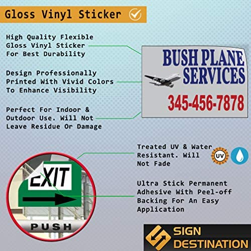 Custom Door Decals Vinyl Stickers Multiple Sizes Company Name Service Provided Number Business Company Name Outdoor Luggage /& Bumper Stickers for Cars Blue 48X32Inches Set of 2