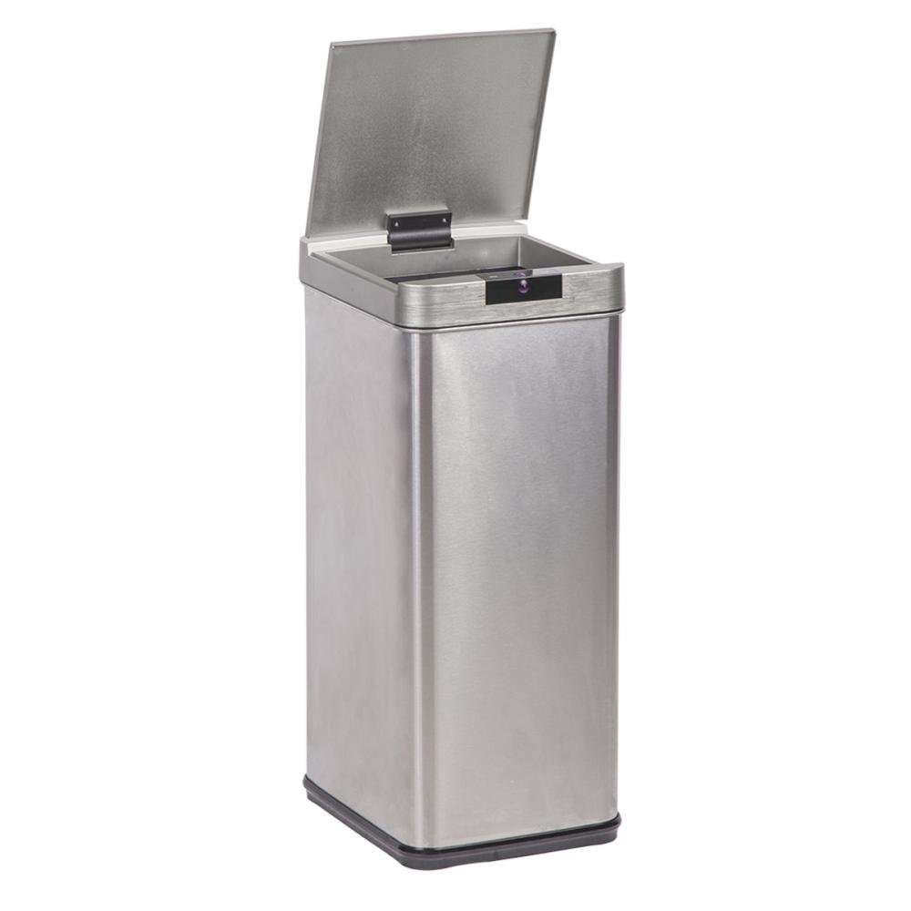 13-Gallon Trash Can, Sensor Stainless Steel Trash Bin