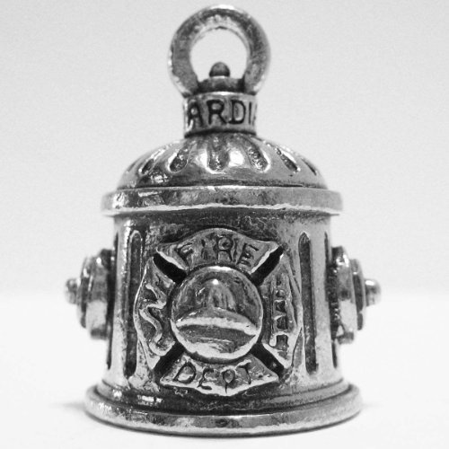Guardian® Firefighter Fire Hydrant Motorcycle Biker Luck Gremlin Riding Bell or Key Ring