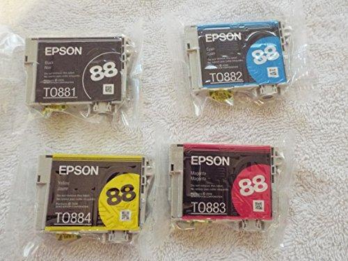 Genuine Epson 88 Ink Cartridges 4 pack in Original Bulk Pack