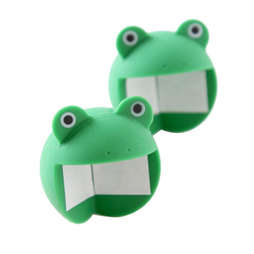 protecci/ón para los Bordes de Seguridad de los ni/ños Protector de Esquina para Esquina de Rana Verde Rocita dise/ño de Animales 2 Unidades Color Verde