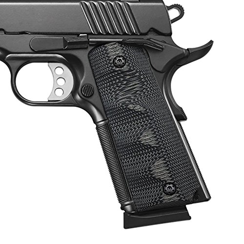 Cool Hand 1911 Full Size G10 Grips, Ambi for Left and Right Handed, Ambi Safety Cut, Brand Grey/Black