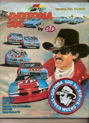 1991 Daytona 500 program Irvan Great Petty cover Nascar