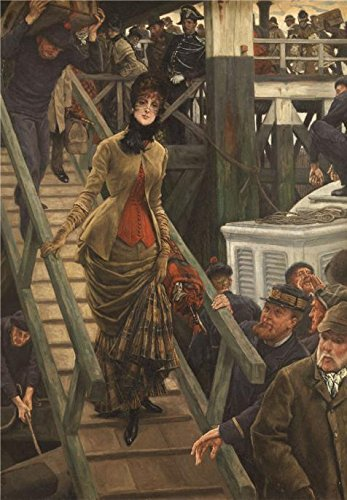 Oil Painting 'James Tissot - Embarkation At Calais, 19th Century' 18 x 26 inch / 46 x 66 cm , on High Definition HD canvas prints is for Gifts And - Costa Readers Brine
