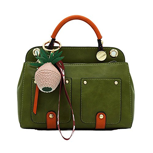 De Generoso Gris Moda Bolsa GWQGZ Elegante Inclinado Bolso A Hombro De Green E Pu Través Simple La De Cuero TqCwXw5