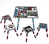 Levels of Discovery Jackson Table and 4 Stool Set, Multi-color