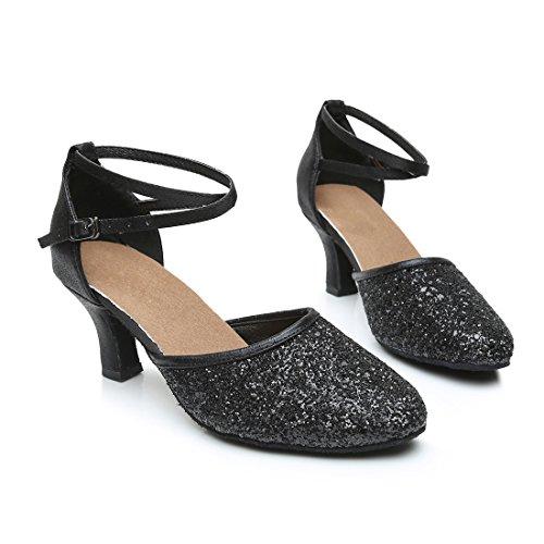 VASHCAMER Danse Sandales Hauts Noir pour de Talons Femme Chaussures q47n1fqxP