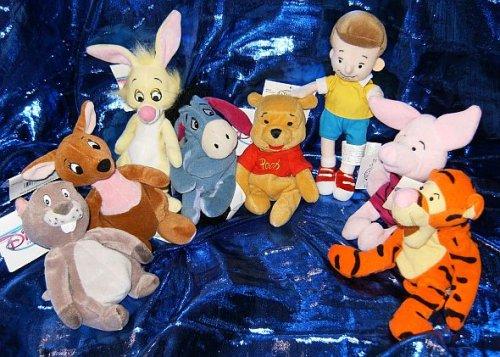 "UPC 078742100920, Winnie the Pooh Set of Eight 8"" Plush Beanies"