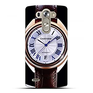 Cl¨¦ de Cartier Phone Case Series Luxury Watch Customized Thin Protective Plastic 3D Case Cover L6M080 For LG G4