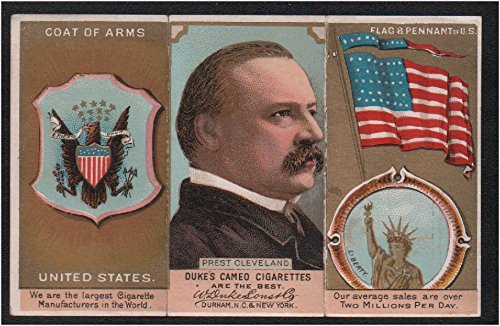 (1888 Duke N126 Rulers, Flags, Arms of Nations (Non-Sports) Card# 48 united states (folder) VG Condition)