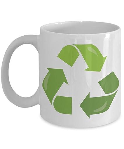 Amazon Earth Day Think Green Symbol Coffee Mug Gift Recycle