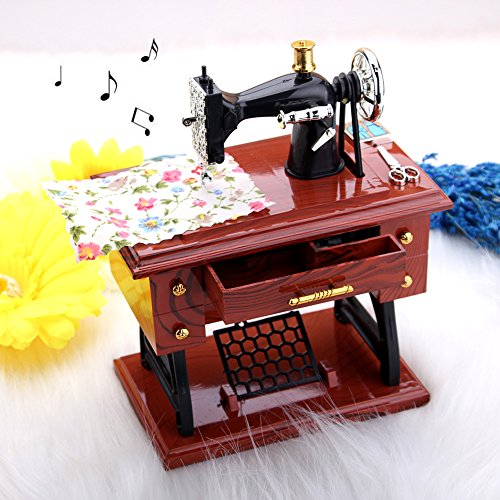 Sewing Machine Musical Box Vintage look Style Music Box Gift for Your Childrens - Sewing Machines Disney
