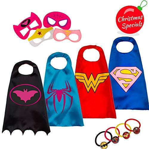 Dropplex Superhero Capes for Kids | Super Hero Toys & Costumes Birthday Party Supplies
