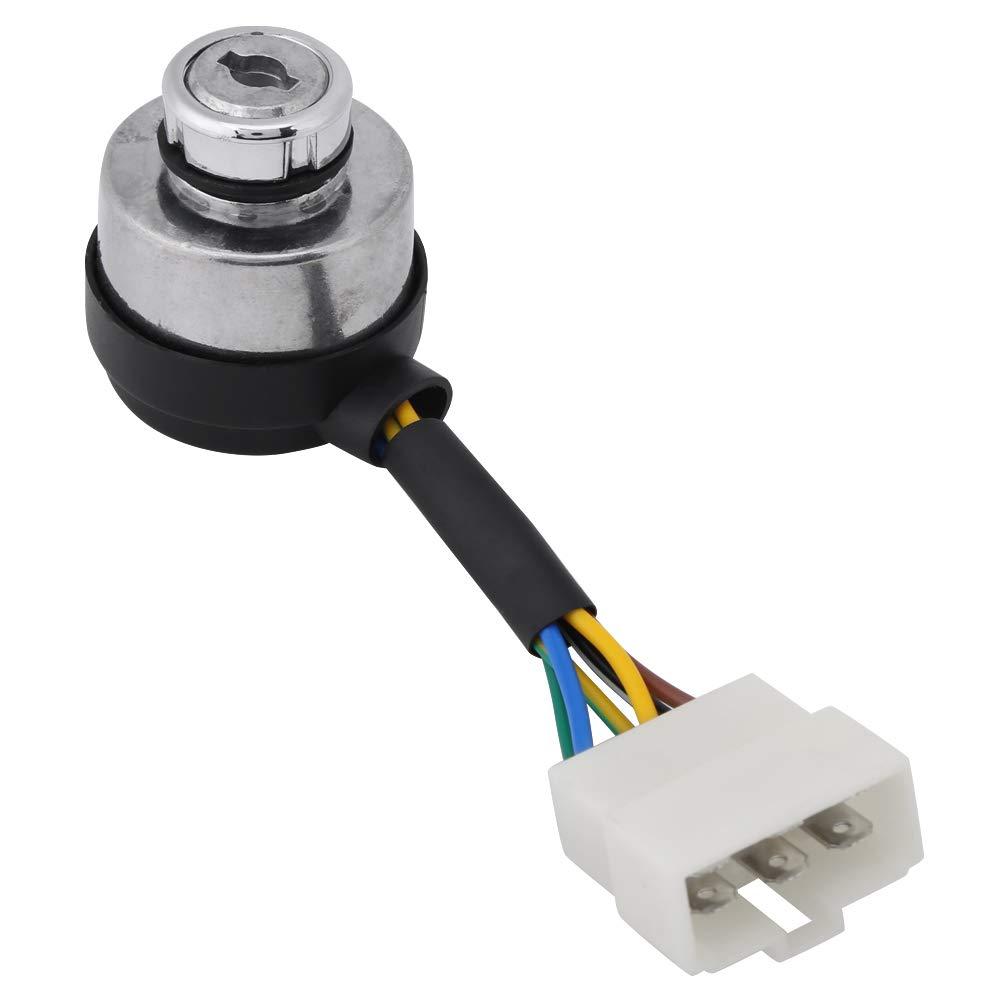 Interruptor de llave de encendido interruptor de arranque de llave de 6 cables accesorios para generador de gasolina reemplazar por generador de gas 2.5-6.5KW 188F