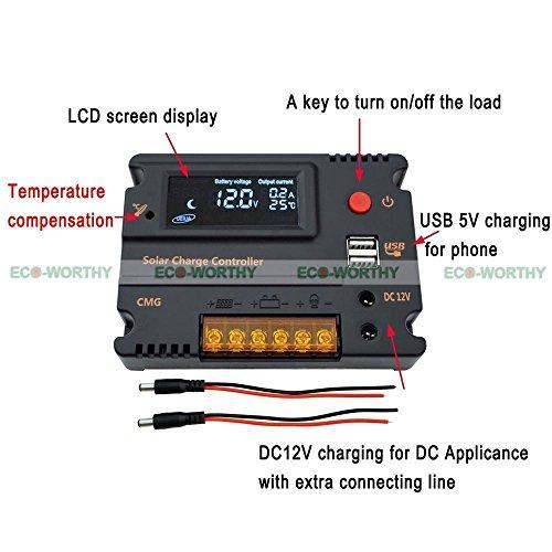 200W 12V RV System Kit 2x 100W Solar Panel & 1KW Power Inverter Bracket by ECO-WORTHY