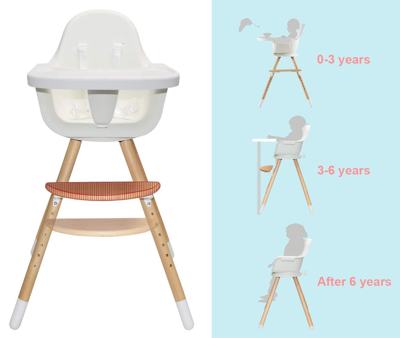Amazon.com: Asunflower - Silla alta de madera para bebé ...