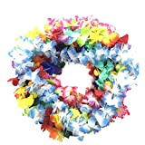 BOSHENG Hawaiian Colorful Luau Flower Leis Necklaces Party