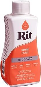 Rit All- Purpose Liquid Fabric Dye, 8 oz, Coral