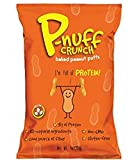 Cheap Healthy Snack Perfect Life Nutrition Pnuff Crunch Vegan Baked Peanut Puffs with Protein (Original Flavor, 4 oz., 5 count)