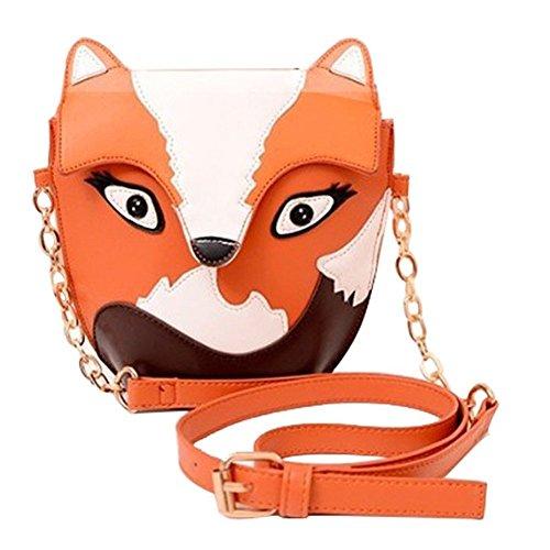 SODIAL(R) arancia Sacchetto del messaggero delle nuove donne di modo donne della borsa della borsa del sacchetto del fumetto della borsa