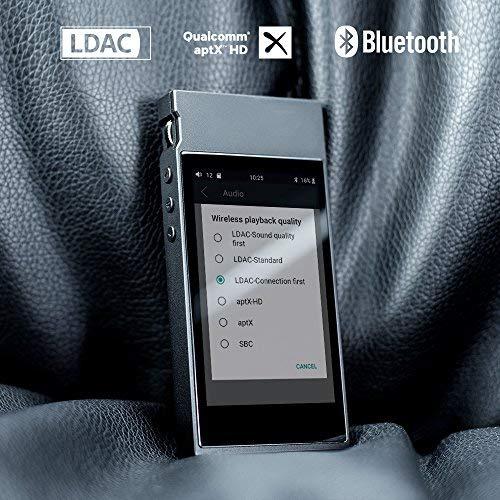 FiiO M7 High Resolution Lossless Music Player with aptX, aptX HD, LDAC HiFi Bluetooth, FM Radio and Full Touch Screen (Black) ...