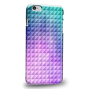 """Case88 Premium Designs Art Studded Ombre Pattern Purple Green Gradient Protective Snap-on Hard Back Case Cover for Apple iPhone 6 Plus 5.5"""""""