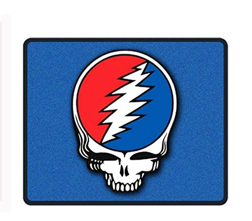 (Gaming Mouse Pad - Grateful Dead Steal Your Face - Design Stitched Edges Waterproof Pixel-Perfect Accuracy Optimized for All Computer Mouse Sensitivity and Sensors)