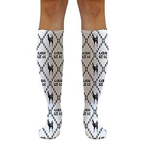 Funny Knee High Socks Alaskan Klee Kai Dog Paws Tube Women & Men 1 Size 4