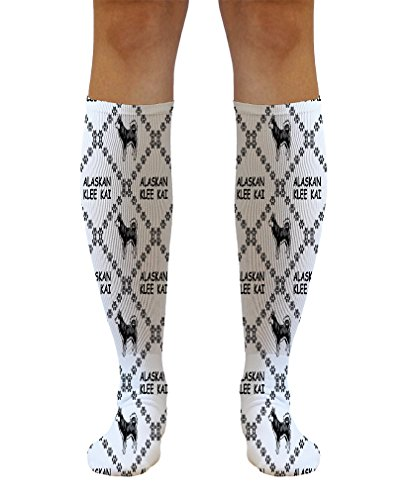 Funny Knee High Socks Alaskan Klee Kai Dog Paws Tube Women & Men 1 Size 1
