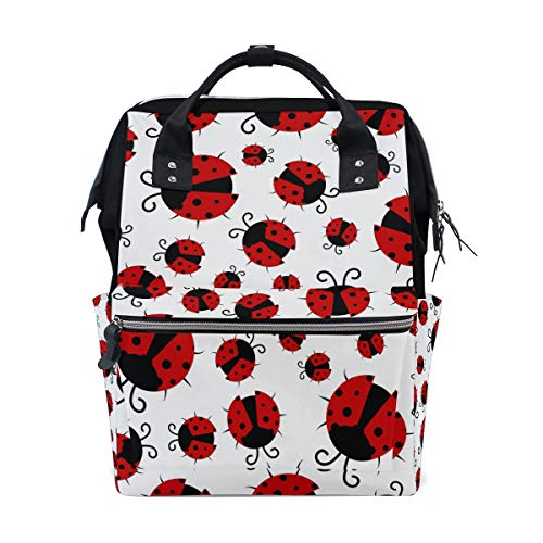 - TFONE Cute Animal Ladybug Diaper Bag Multi-Function Durable Large Capacity Travel Backpack for Women Men Unisex