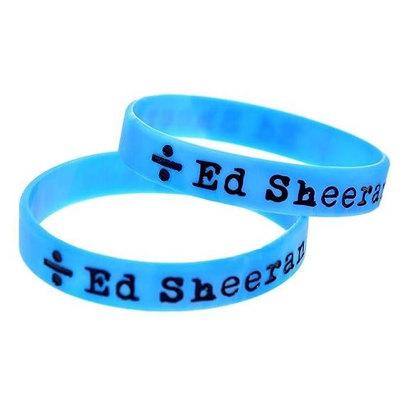 TtKj Silikon-Armb/änder mit Logo Ed Sheeran drin Kautschuk Armb/änder f/ür Herren und Kinder Motivation perfekt f/ür Ed Fans s Et St/ücke
