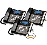 RCA 25423RE1 ViSys 4-Line Expandable System Phone with Intercom - 3-Pack
