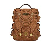 Steampunk Backpack Women Men Leather Vintage Retro Rock Fashion Gothic Bags 2017