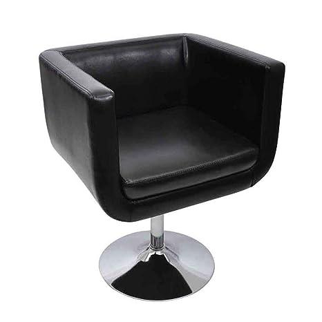 vidaXL Moderna Silla Ajustable Negro Cromo Cuero Artificial ...