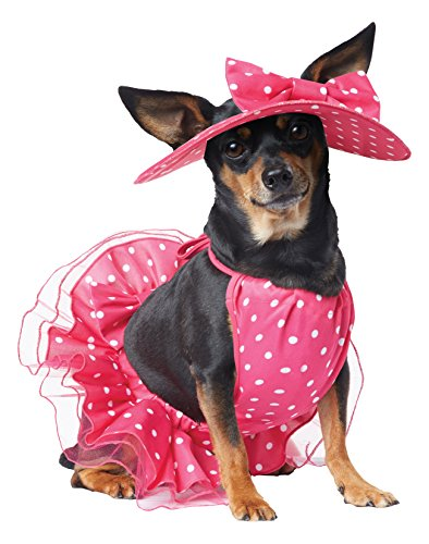 (California Costume Collections Pretty in Pink Dog Costume, Medium)