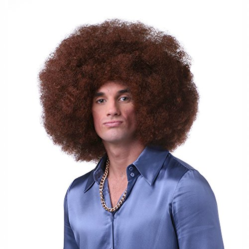 Sepia Costume Color Afro Synthetic Wig - Auburn