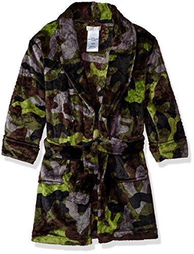 Komar Kids Big Boys' Printed Fleece Robe, Camo, Medium