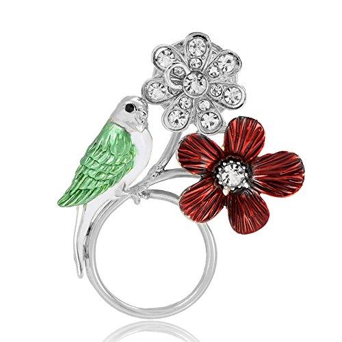 NOUMANDA Jewelry Hummingbird Magnetic Eyeglass Holder Emerald Bird Magnetic Brooch