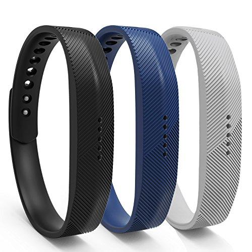 12 Colors Fitbit Flex 2 Band, BeneStellar Bracelet Strap Replacement Band for Fitbit Flex 2 (3-Pack Color-2, Large(7.4