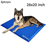 Ephram Pet Dog Cooling Gel Mat Pad, Dogs Cat Self Chilly Cold Ice