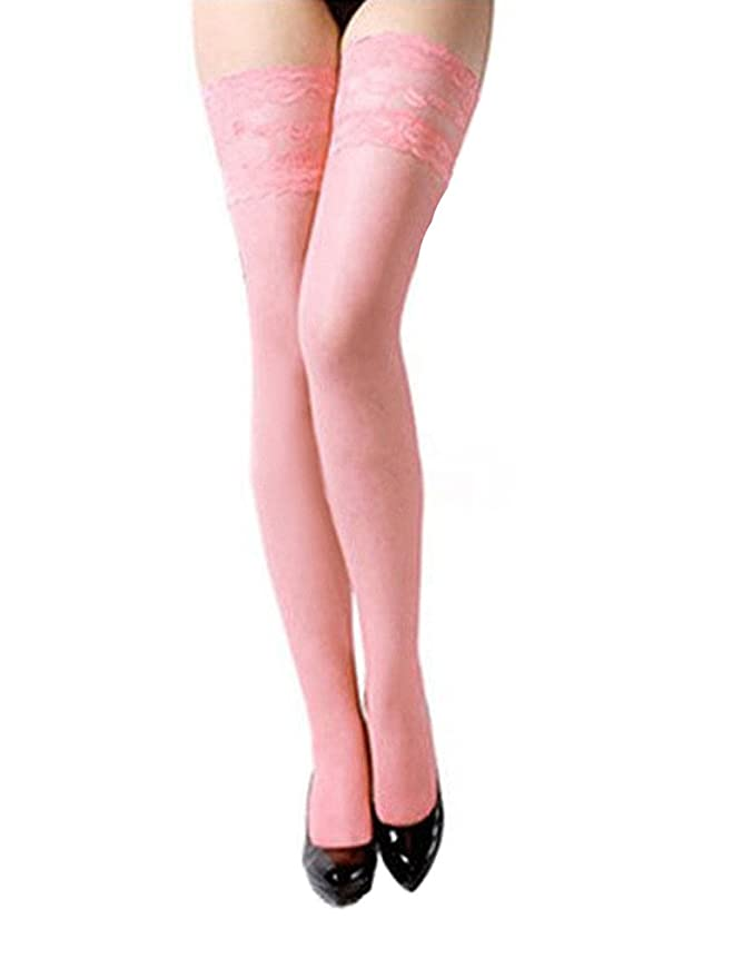 1920s Style Stockings, Tights, Fishnets & Socks Bestgift womens Thigh High Lace Stocking $2.43 AT vintagedancer.com