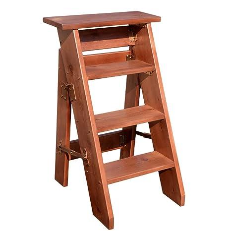 Super Amazon Com 4 Step Folding Step Stool Heavy Duty Natural Machost Co Dining Chair Design Ideas Machostcouk