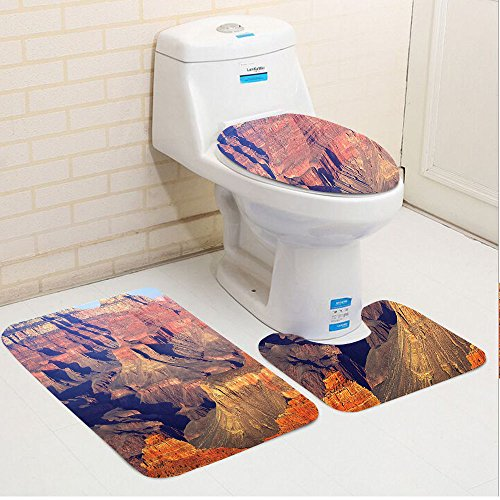 Keshia Dwete three-piece toilet seat pad customHouse Epic South West Canyon Before Sunrise Tribal Ethnic National Landmark Wilderness Brown Wilderness Lodge Christmas Music