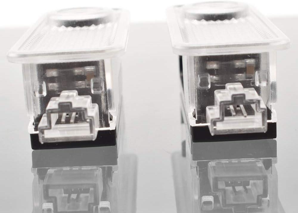Lumi/ère de bienvenue de porte de voiture Compatible avec Mini Cooper One S JCW R55 R56 R58 R59 R60 F56 F60 2 pi/èces automobiles Bienvenue Lumi/ère porte sans fil fant/ôme Ombre lampe Bienvenue Lumi/ère