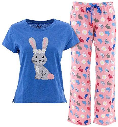 PJ Couture Women's Bunny Blue Pajamas (Bunny Pj)