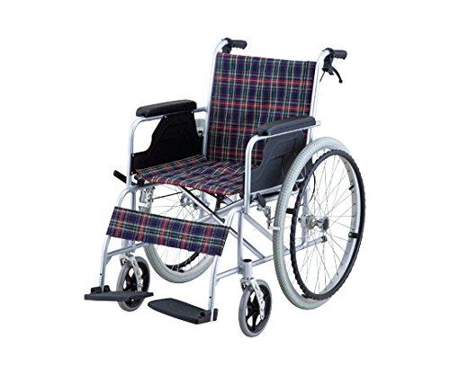 【非課税】ナビス 車椅子 (自走式/アルミ製/介助ブレーキ付き)/8-5951-01 B00SUGSWBK