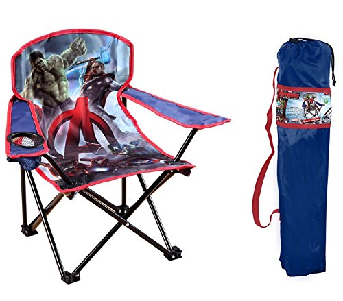 Marvel Avengers Age of Ultron Kids Folding Chair w/ Cup Holder and Carry Bag