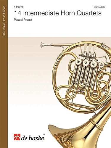14 Intermediate Horn Quartets  -Partition+Parties Separees ()